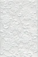 Керамическая плитка Аджанта цветы белый 20х30х8,6 8216