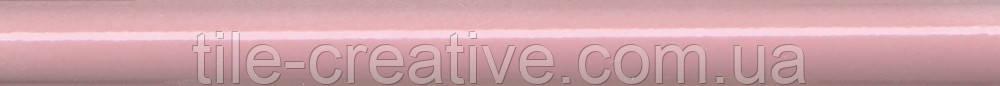 Керамическая плитка Бордюр розовый обрезной 30х2,5х19 SPA008R