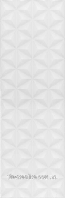 Керамическая плитка Диагональ белый структура обрезной 25x75x11 12119R