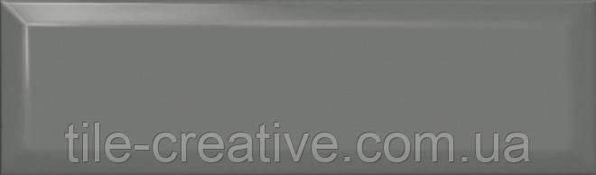 Керамическая плитка Аккорд дымчатый темный грань 8,5х28,5 9028