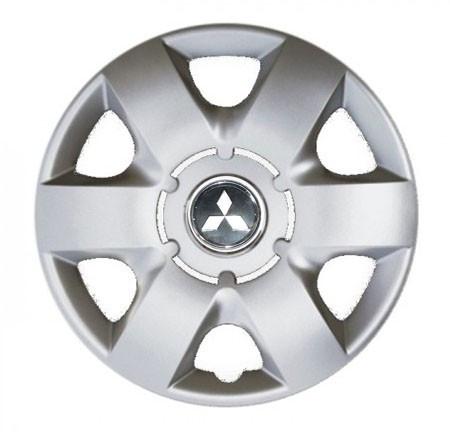 """Колпаки для колес 14"""" c логотипом автомобиля 4 шт (SKS 215) Митсубиши"""