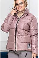 Куртка женская зима синтепон 200 пудра батал