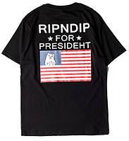 Футболка RipNDip ror Presideht мужская | Футболка в стиле РипНДип