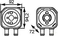 Радиатор подогрева масла 1.9JTD-1.9MJTD Doblo 55191707