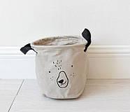 Тканевая корзина для хранения вещей и игрушек с ручками Мишка Berni 20 х 18.5 см Серая (43438), фото 5