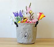 Тканевая корзина для хранения вещей и игрушек с ручками Мишка Berni 20 х 18.5 см Серая (43438), фото 7