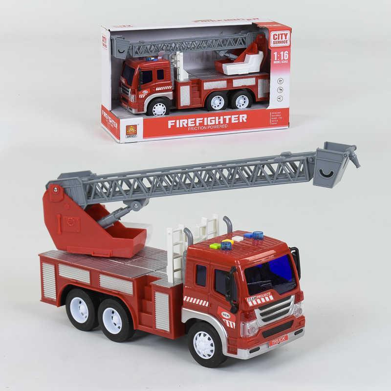 """Спецтехника WY 350 B """"Пожарная машина"""" (24) инерция, свет, звук, в коробке"""