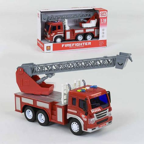 """Спецтехника WY 350 B """"Пожарная машина"""" (24) инерция, свет, звук, в коробке, фото 2"""
