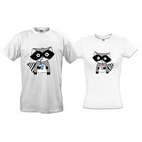 Парные футболки с енотами