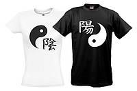 Парные футболки Инь-Янь