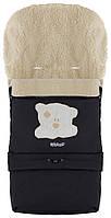 Зимний конверт Babyroom №20 с удлинением  черный (мордочка мишки штопаная), фото 1