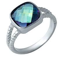Серебряное кольцо ShineSilver с натуральным мистик топазом (1922316) 18 размер