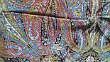 Жасмин 1176-18, павлопосадский платок (шаль, крепдешин) шелковый с шелковой бахромой, фото 9