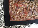 Жасмин 1176-18, павлопосадский платок (шаль, крепдешин) шелковый с шелковой бахромой, фото 5