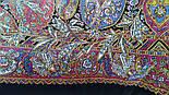 Жасмин 1176-18, павлопосадский платок (шаль, крепдешин) шелковый с шелковой бахромой, фото 7