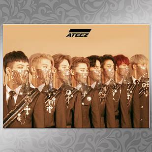 Плакат K-Pop Ateez