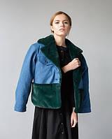 Джинсовая куртка с подкладкой из эко-меха (one size)