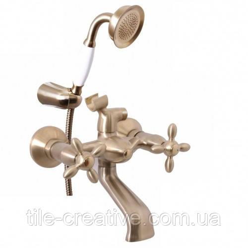 Смеситель для ванны Rubineta Venezia 1 Cross Br (V10S96)