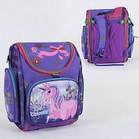 Рюкзак школьный каркасный С 36188 (40) 1 отделение, 3 кармана, спинка ортопедическая