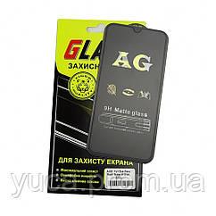 Защитное стекло для SAMSUNG A405 Galaxy A40 (2019) Full Glue (0.3 мм, 2.5D, матовое чёрное) Люкс