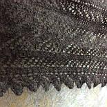 Косынка пуховая теплая, плотная Ш-00138, серая, диагональ 130 см, фото 3