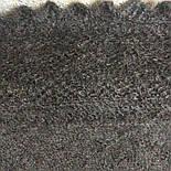 Косынка пуховая теплая, плотная Ш-00138, серая, диагональ 130 см, фото 5