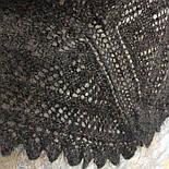 Косынка пуховая теплая, плотная Ш-00138, серая, диагональ 130 см, фото 4