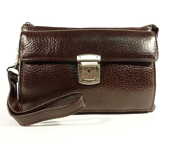 Клатч мужской классика clutch коричневый Desisan 247