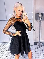 Платье женское нарядное горошек 42 44 46, фото 1