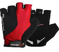 Перчатки велосипедные ӏ велоперчатки 5028 C Чорно-червоні M