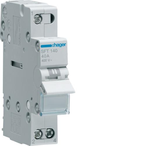 Переключатель I-0-II с общим выходом сверху 1-пол., 40А/230В (SFT140)
