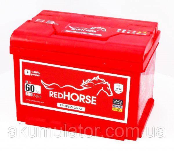 Акумулятор автомобільний RED HORSE 60 (R+)