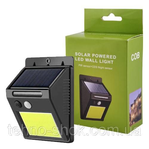 Настенный уличный светильник SH-1605-COB, 1x18650, PIR, CDS, солнечная батарея, 1x18650
