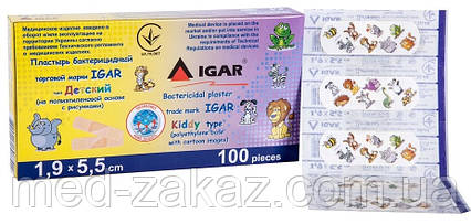 Бактерицидный пластырь IGAR, детский (1,9 х 5,5 см)