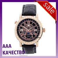 Часы наручные мужские ААА класса Patek Philippe Grand Complications 6002 Sky Moon Black-Gold-Black
