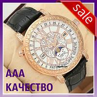 Часы наручные мужские ААА класса Patek Philippe Grand Complications 6002 Sky Moon Black-Gold-White