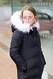 Зимняя удлиненная куртка  для девочки Плащевка на силиконе Флисовая подкладка Рост 128 134 140 146 152 158, фото 5