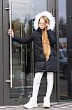 Зимняя удлиненная куртка  для девочки Плащевка на силиконе Флисовая подкладка Рост 128 134 140 146 152 158, фото 6
