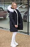 Зимняя удлиненная куртка  для девочки Плащевка на силиконе Флисовая подкладка Рост 128 134 140 146 152 158, фото 9