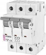 Автоматический выключатель ETIMAT 6AC х-ка С 4А 3P 2145510, фото 2