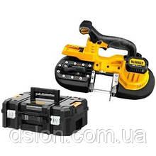 Пила ленточная аккумуляторная DeWALT DCS371NT,18,0В XR Li-lon,скорость ленты 174 м/мин,3,9 кг,чемодан TSTAK