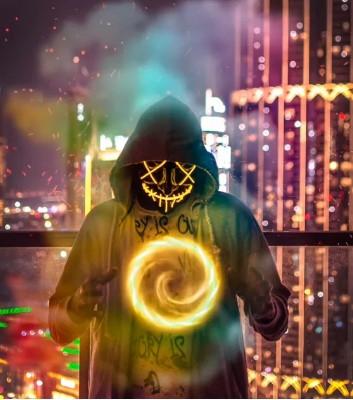 Неоновая Маска LED Светящаяся Судная Ночь (разные цвета)