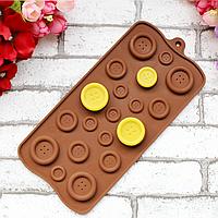Форма для шоколада Пуговички, фото 1