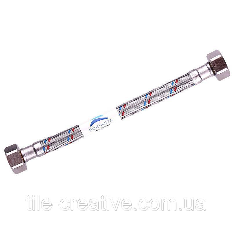 """Шланги гибкие водопроводные 120cm FF (NP) F1/2""""xF3/8"""" (610121)"""