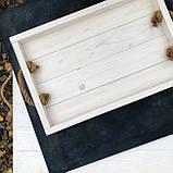 Деревянный поднос White moon 34*50 см / Разнос / Поднос из дерева / Фото-фон / Поднос для horeca, фото 3