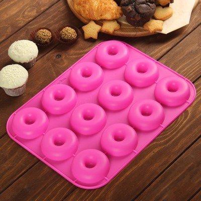 Силиконовая форма  Пончики 12 шт