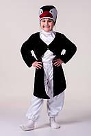 Детский карнавальный костюм для мальчика «Пингвин» 100-120 см, черно-белый