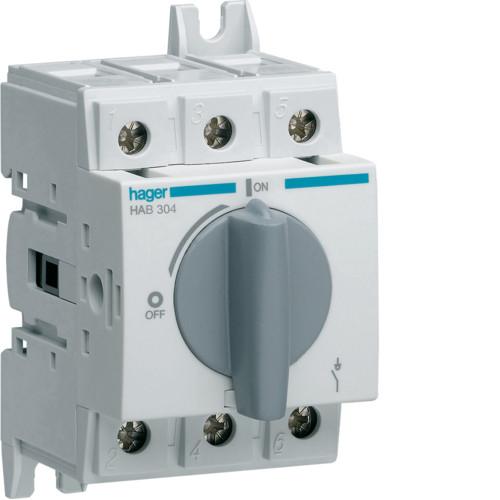 Выключатель напряжения (рубильник) поворотный 400/690В 40А, 3п, 2.5м (HAB304)