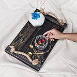 Дерев'яний піднос Elegance 25*40 см / Рознос / Піднос з дерева / Фото-фон / Піднос для horeca, фото 3