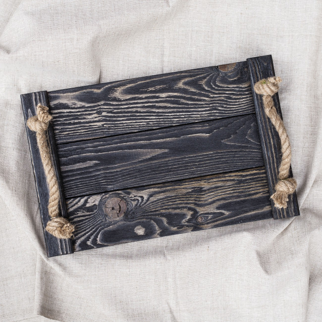 Деревянный поднос Elegance 25*40 см / Разнос / Поднос из дерева / Фото-фон / Поднос для horeca